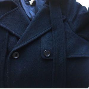 J. Crew Jackets & Coats - J.Crew 100% Wool Black Pea Coat Size 8